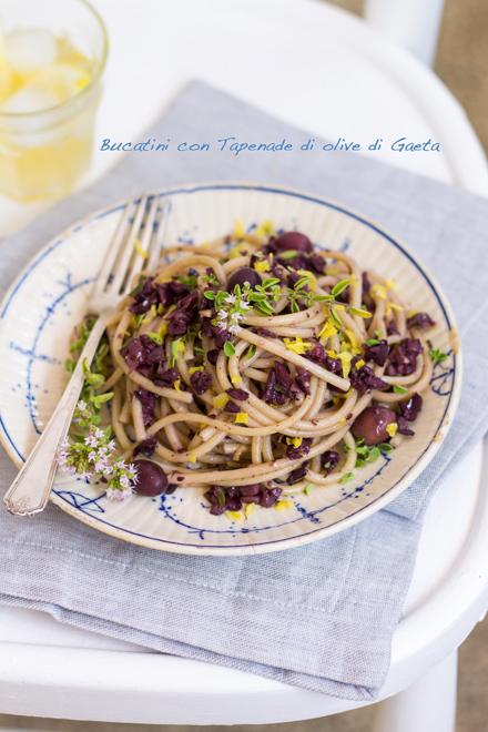 Bucatini con tapenade di olive di Gaeta