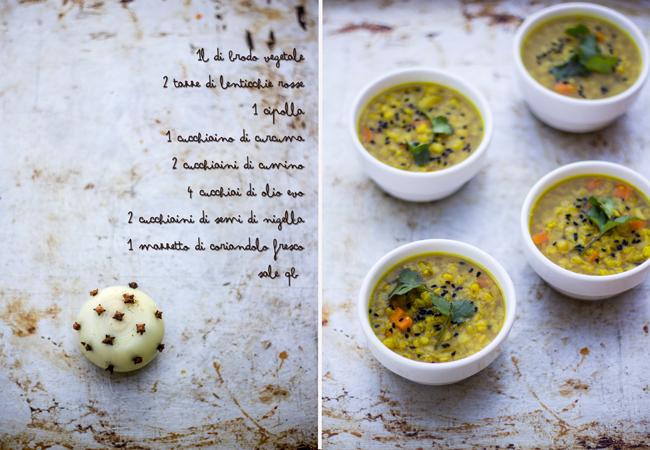 Zuppa di lenticchie rosse e 'sintomi d'amore'