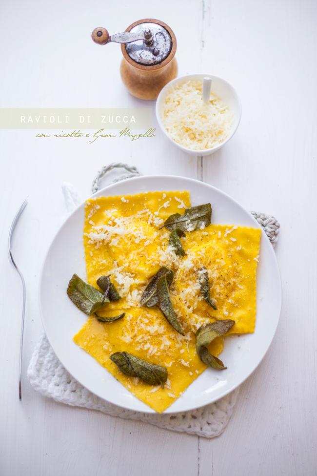 Ravioli di zucca con ricotta e Gran Mugello Ubaldino