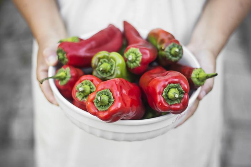 Sfoglie di peperoni e uova la forno