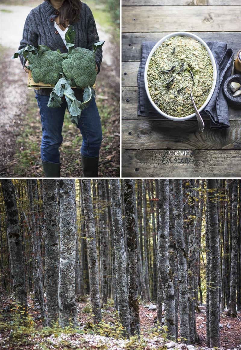 Sformato di broccoli aglio e acciughe