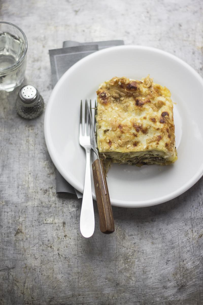 lasagna con carciofi