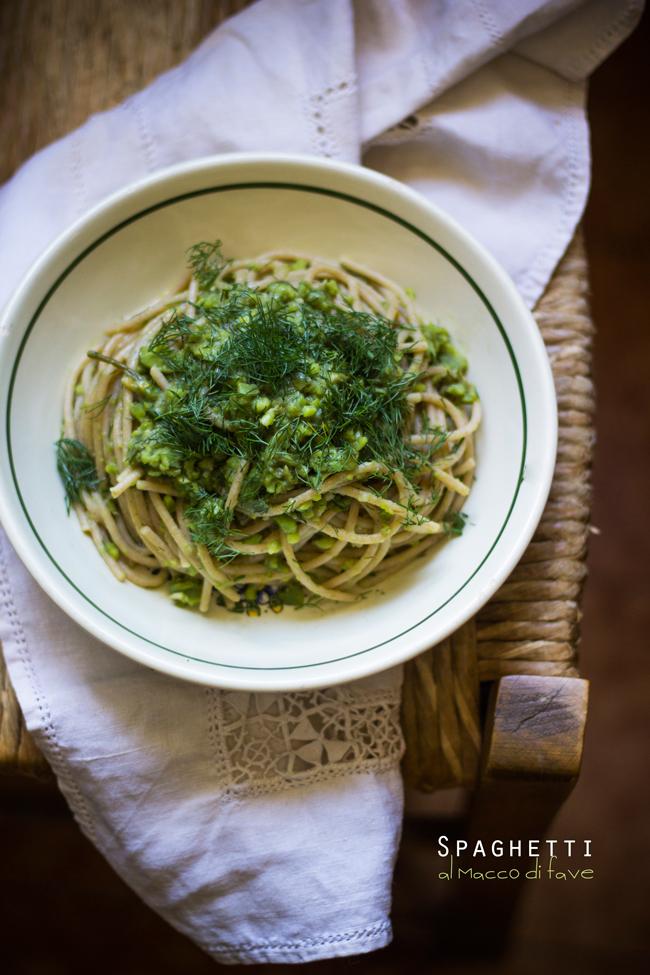 Spaghetti 'di Piero al macco di fave di Rolando'