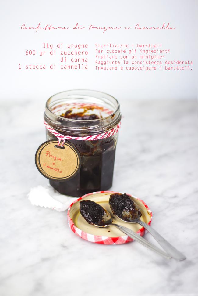 Marmellata di prugne e cannella