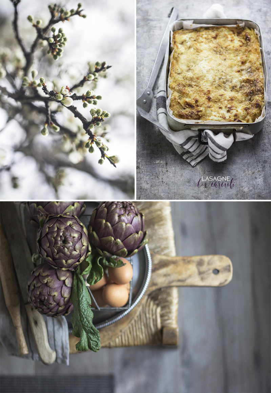 Lasagna con carfiofi