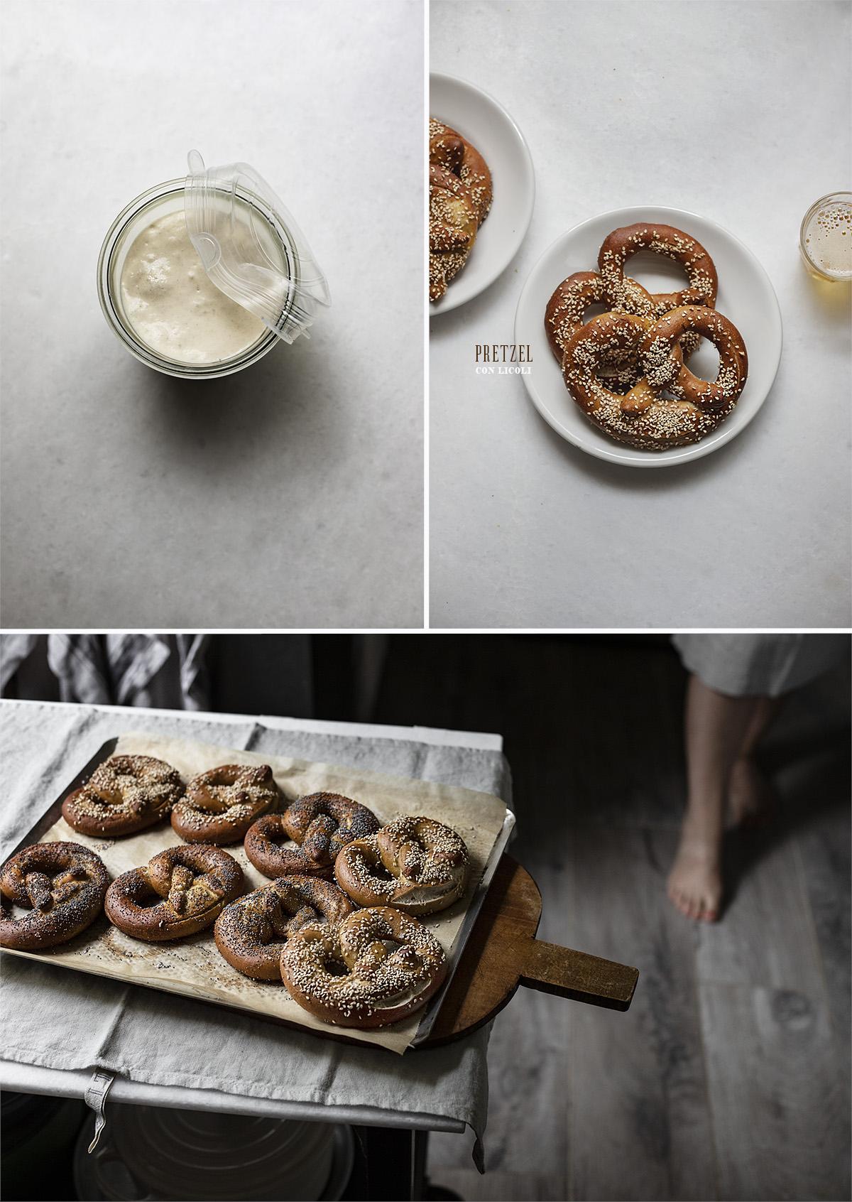 pretzel con licoli